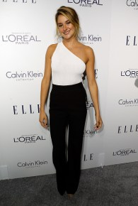LOS ANGELES, CA - OCTOBER 19: Actress Shailene Woodley attends the 22nd Annual ELLE Women in Hollywood Awards at Four Seasons Hotel Los Angeles at Beverly Hills on October 19, 2015 in Los Angeles, California. (Photo by Jeff Vespa/Getty Images for ELLE)