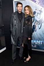 "NEW YORK, NEW YORK - MARCH 14: Actors Dylan McDermott (L) and Maggie Q attend the New York premiere of ""Allegiant"" at the AMC Lincoln Square Theater on March 14, 2016 in New York City. (Photo by Jamie McCarthy/Getty Images)"