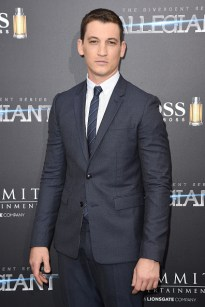 "NEW YORK, NEW YORK - MARCH 14: Actor Miles Teller attends the New York premiere of ""Allegiant"" at the AMC Lincoln Square Theater on March 14, 2016 in New York City. (Photo by Nicholas Hunt/Getty Images)"