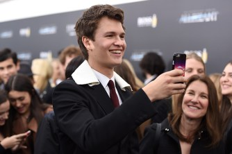 "NEW YORK, NEW YORK - MARCH 14: Actor Ansel Elgort attends the New York premiere of ""Allegiant"" at the AMC Lincoln Square Theater on March 14, 2016 in New York City. (Photo by Nicholas Hunt/Getty Images)"