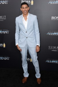 "NEW YORK, NEW YORK - MARCH 14: Actor Keiynan Lonsdale attends the New York premiere of ""Allegiant"" at the AMC Lincoln Square Theater on March 14, 2016 in New York City. (Photo by Nicholas Hunt/Getty Images)"