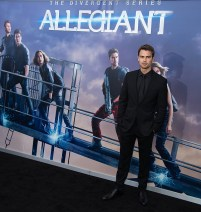 "NEW YORK, NY - MARCH 14: Actor Theo James attends the ""Allegiant"" New York premiere at AMC Lincoln Square Theater on March 14, 2016 in New York City. (Photo by Michael Stewart/Getty Images)"