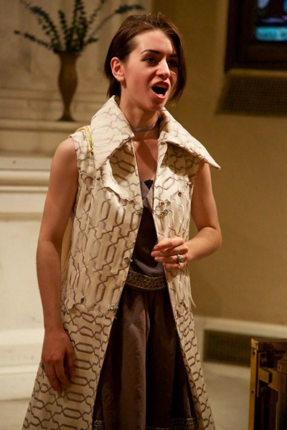 Allegra Durante in Gli Spiritosi's Orfeo ed Euridice, 2013, costume design and construction by Allegra Durante