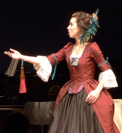 Allegra Durante in Replenished Repertoire (the Reprise), December 2012, costume design and construction by Allegra Durante (third/final version of red dress)
