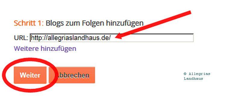 URL hinzufügen