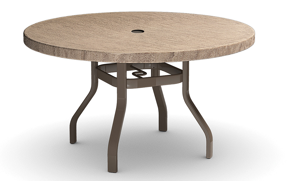 faux slate top round tables
