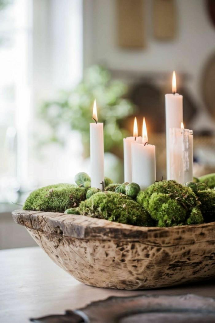 Adventskranz holz silber – Europäische Weihnachtstraditionen
