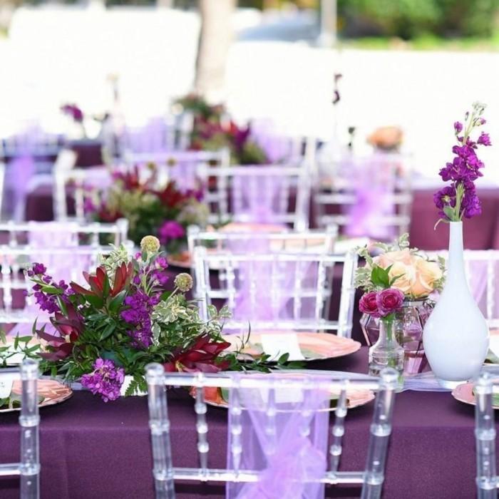 Hochzeit Lilac Romance Tischdekoration Von Fibula Style