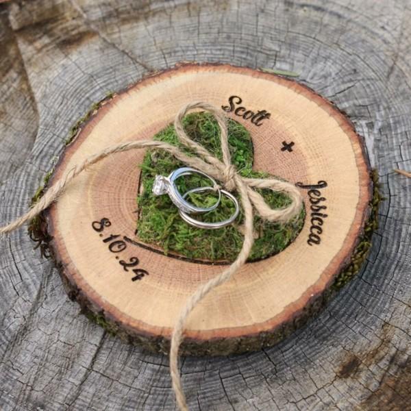 Ringkissen Holz Personalisiert Gravur Hochzeit Hexengifts