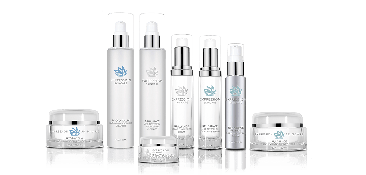 Image of the Allele Medical product line called The Expression Skincare Collection