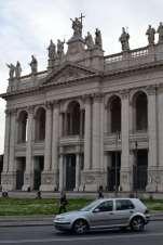 The main entrance to the Archbasilica di San Giovanni in Laterano