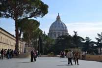 At the Vatican ~ the dome of St. Peter's Basilica in the background