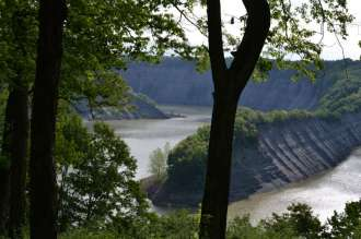 The Genesee River above the Mount Morris Dam