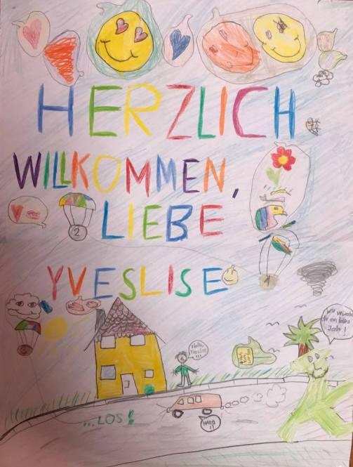 dessin enfants famille allemande