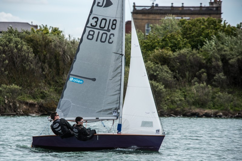 Ben and Gabe Hill in their Graduate. Pic: Sailpics.co.uk