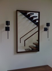 Double frame mirror, framed and hung by Allen Custom Frame