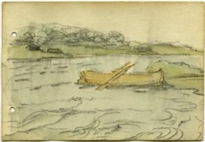 Jack B. Yeats, Boat on Coole Park Lake
