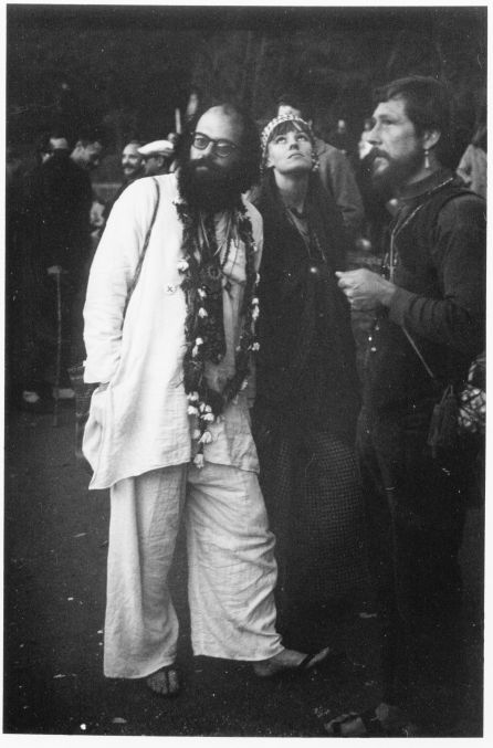 thefactory-: Ginsberg with Maretta Greer and Gary Snyder at the Human Be-In, Golden Gate Park, San Francisco, January 14, 1967.