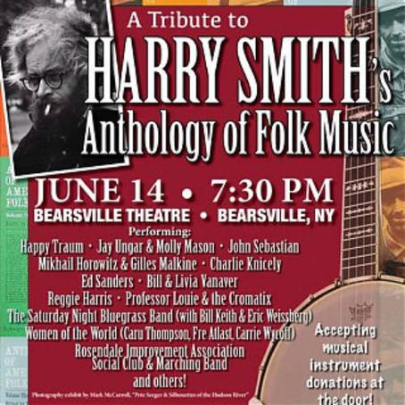 Harry Smith Anthology To Benefit HUNGRY FOR MUSIC live