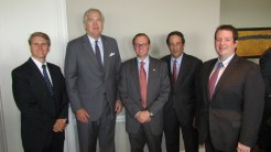 Montgomery Federalist Society Meeting, 2016. Left to Right: Solicitor General Andrew Brasher, Attorney General Luther Strange, Allen Mendenhall, Ferris Stephens, Michael Nunnelley