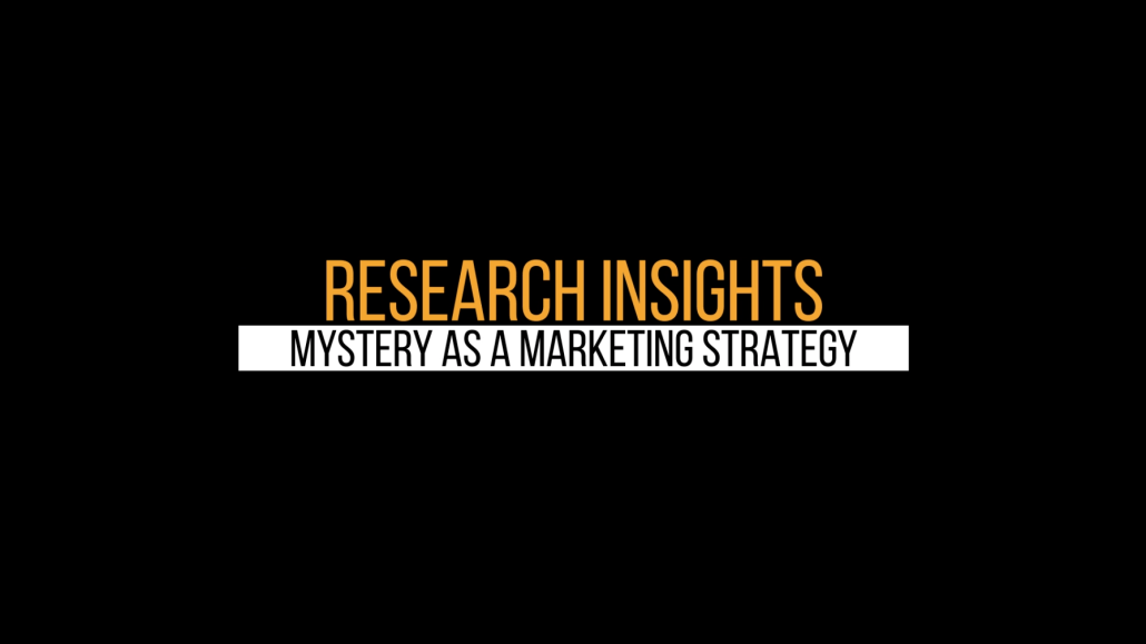 Video Header Image - Mystery as Strategy