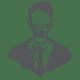 Masked Businessman Illustration - COVID-19