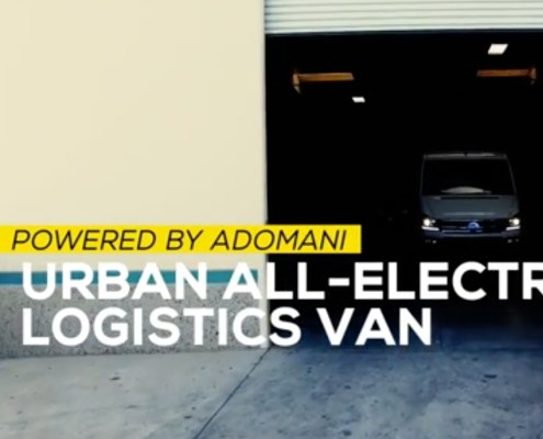 Screenshot of commercial electric van marketing campaign by Allen Stafford