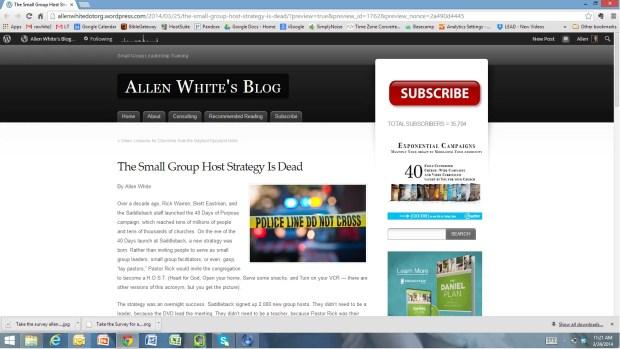 allenwhite website screenshot