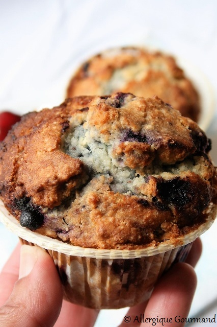 muffins myrtilles coco sans gluten sans oeufs
