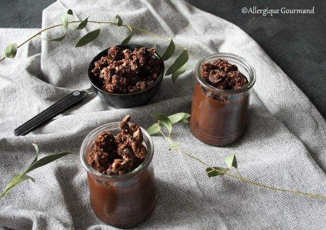 Crème au chocolat sans gluten sans lait sans œufs