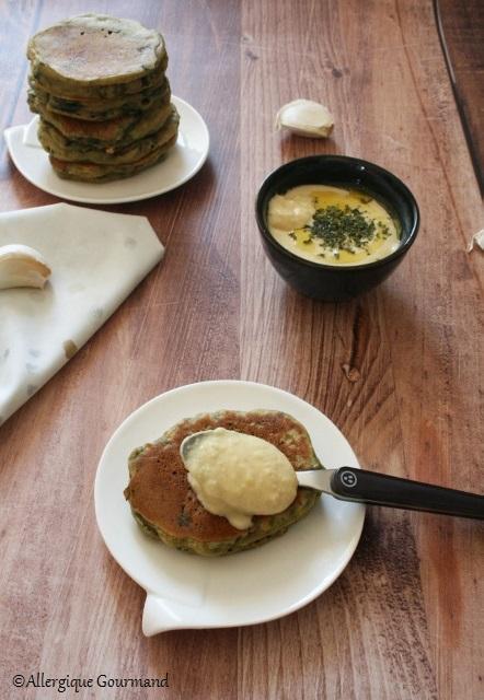 Pancakes aux épinards