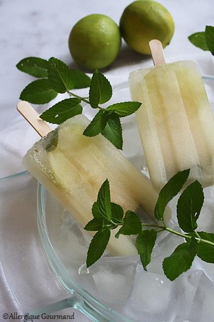 bâtonnets menthe citron sans gluten sans lait sans oeufs
