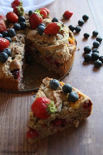moelleux aux fruits sans gluten sans alit sans oeufs