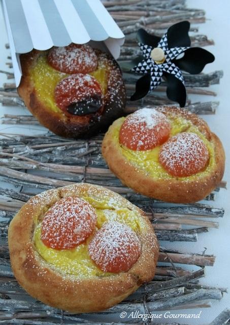 brioches façon tartes aux abricots sans gluten sans oeufs
