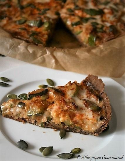 tarte salée aux courgettes sans gluten sans lait sans œufs