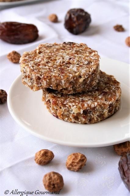 cookies aux fruits secs crus sans gluten sans lait sans œufs
