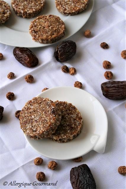 Cookies aux fruits secs crus, Bio