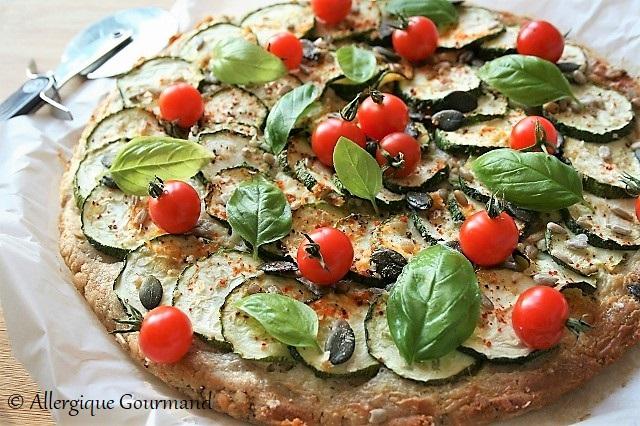 pizza courgettes sans gluten sans oeufs
