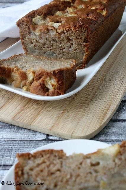 cake aux poires sans gluten sans lait sans oeufs