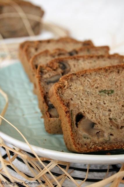 Cake aux champignons sans gluten-lait-oeufs