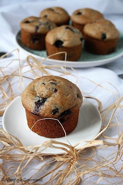 muffins aux myrtilles sans gluten sans lait sans œufs