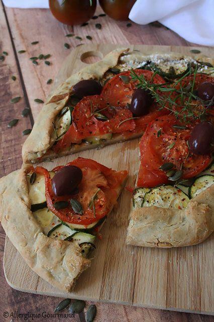 tarte rustique courgette tomates sans gluten sans lait sans œufs