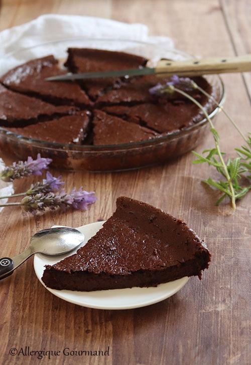 Fondant au chocolat sans gluten sans lait sans oeufs