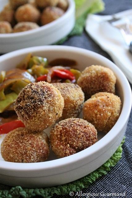 boulettes lentilles corail quinoa sans gluten sans lait sans oeufs