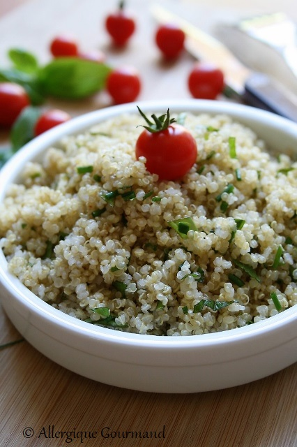 taboulé à ma façon au quinoa sans gluten sans lait sans oeufs