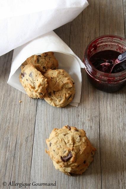 biscuits graines de tournesol chocolat sans gluten sans lait sans oeufs