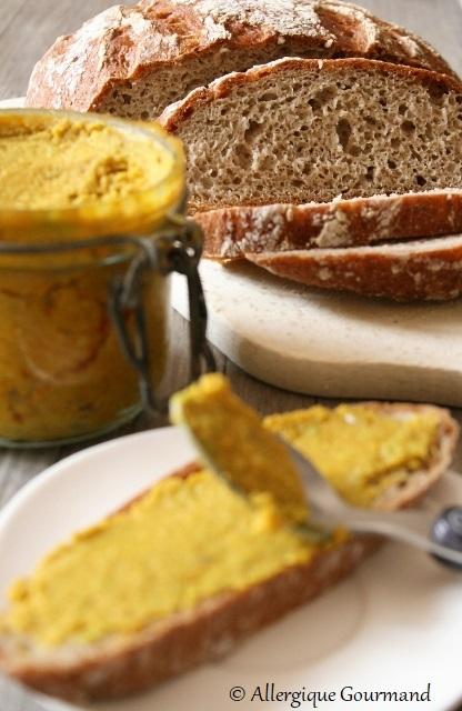 tartinade de fèves saur pain quinoa sarrasin sans gluten sans lait sans oeufs