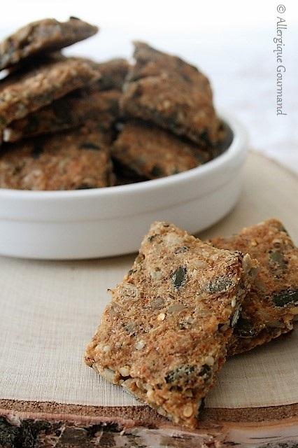 Crackers aux graines sans gluten sans lait sans œufs