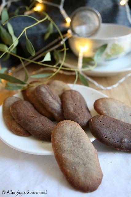Langues de chat nature ou au cacao sans gluten sans lait sans oeufs