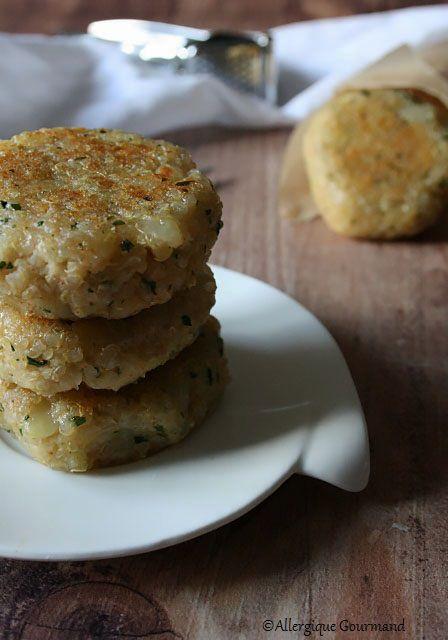 Croquettes pommes de terre et quinoa sans gluten sans lait sans oeufs